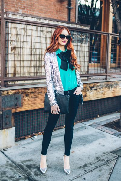 sequin blazer