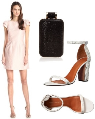 Blush Cap Sleeve Scoop Back Mini Dress