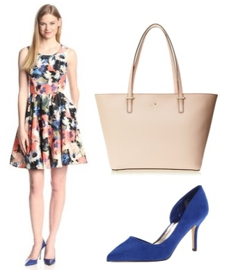 Sleeveless Floral Print Fit and Flare Dress
