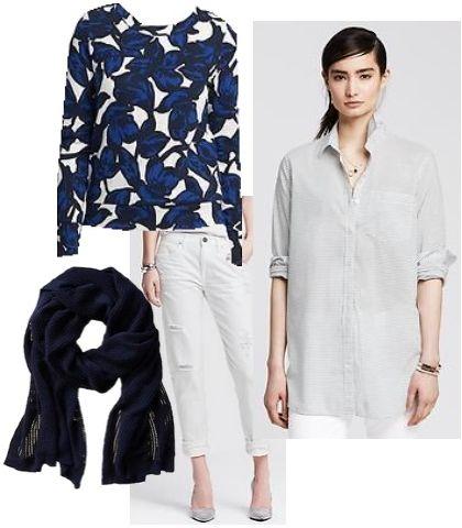 Blue Floral Ponte Sweatshirt