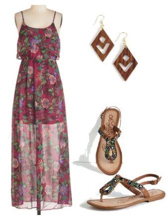 Boho Acoustic Maxi Dress
