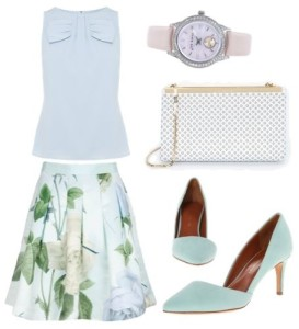 How to Wear Knee-Length Pleated Skirt