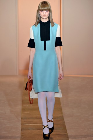 colorblock dress runway