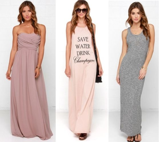 neutral colored maxi dresses