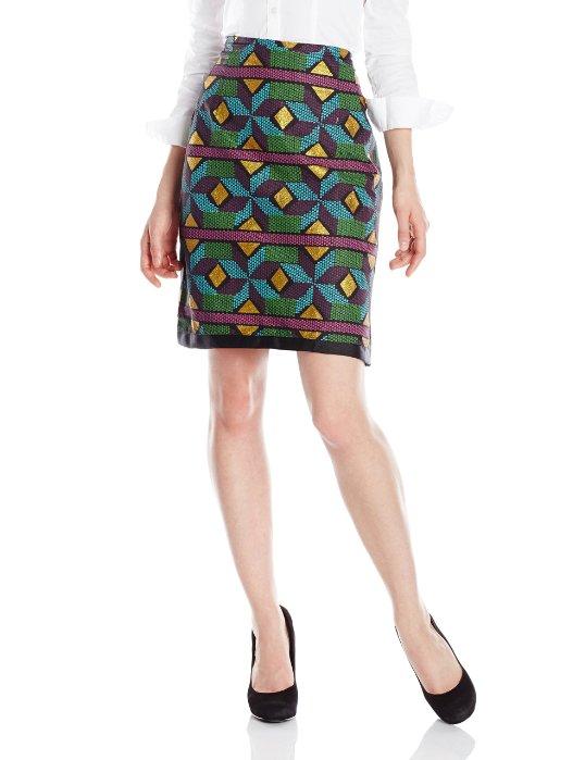 BUSAYO Womens Art Deco Skirt
