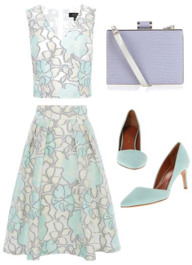 JACQUARD TOP and Skirt