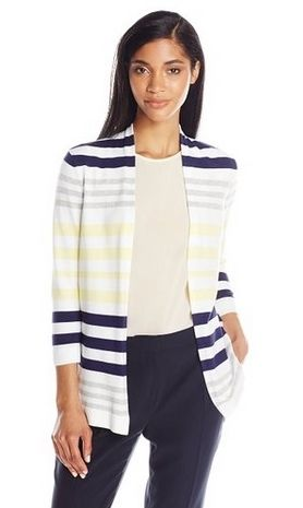 Knits by Hampshire Womens Stripe Cardigan