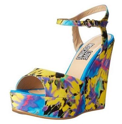 Love Moschino Women's Tye Dye Wedge Sandal