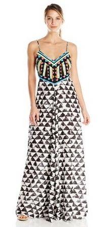Mara Hoffman Womens Embellished Maxi Dress