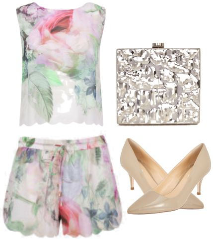 Pure Peony Top and Shorts