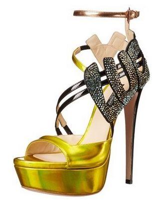 Ruthie Davis Women's Lucky Crystal Platform Sandal