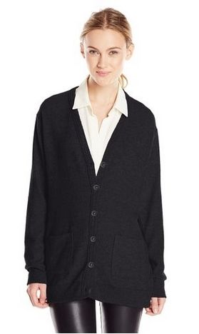 Three Dots Womens Button-Front Cardigan Sweater