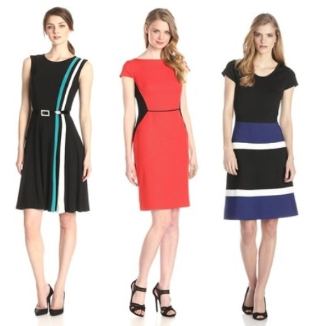 Bold + Bright Colorblock Dresses