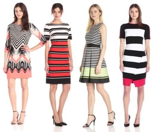 Bold Bright Striped Dresses