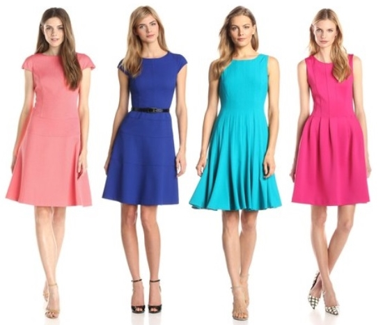 Bright Solid Dresses
