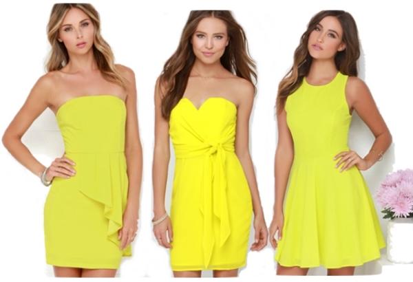 Chartreuse Mini Dresses
