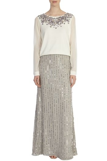 EVIE SEQUIN SKIRT