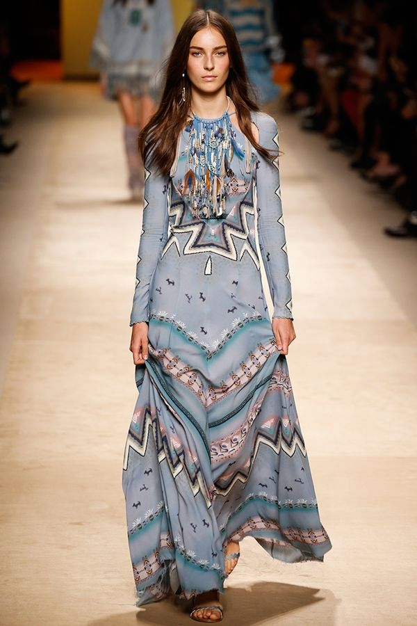 Etro bohemain dress spring 2015