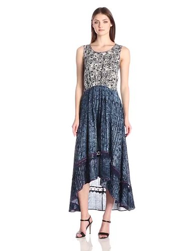 Gypsy 05 Womens Printed Pleat Waist Dress