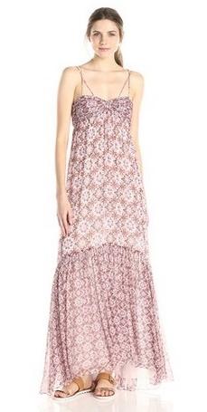 Rachel Zoe Womens Miriel Kaleidescope Print Chiffon Maxi Dress