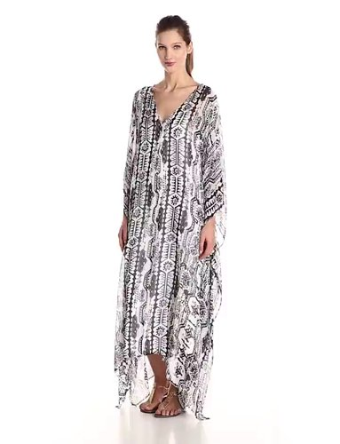 Rachel Zoe Womens Phillipa Caftan Maxi Dress