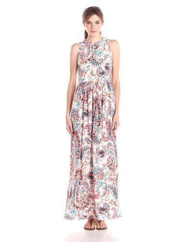 Shoshanna Womens Alexia Spring Paisley Maxi Dress
