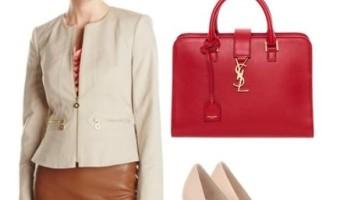 2 Ways to Wear a Khaki, Peplum Style Suit Jacket