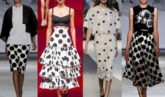 6 Fashionable Outfits with Polka Dot Skirt
