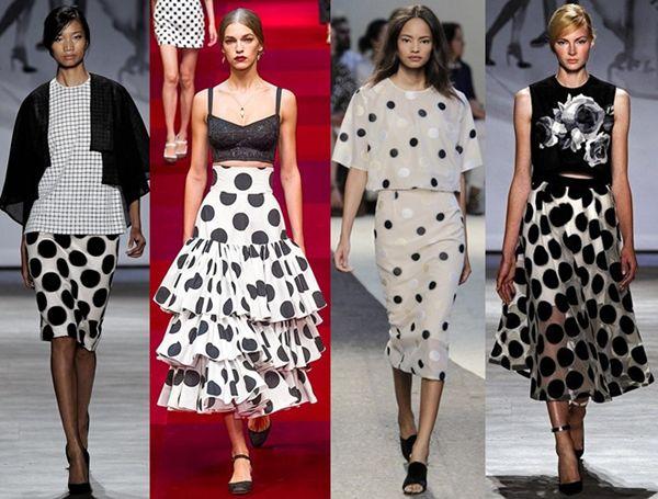 how to wear polka dots runway looks