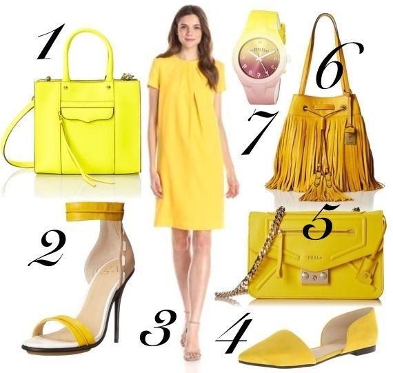 sunset hued accessory - yellow