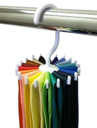 Closet Complete Twirling Tie Rack  + Hanger Organizer