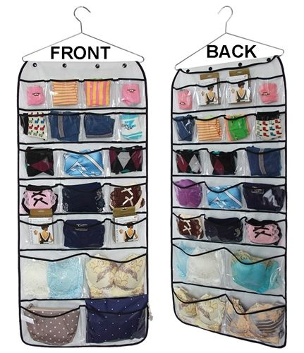 Hanging Closet Dual-sided Organizers Bra Underwear Socks Ties Storage