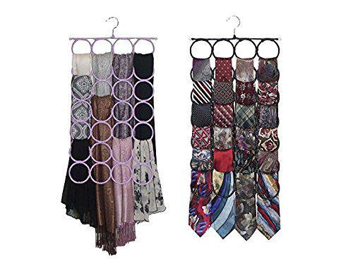 Scarf-Tie Hanger Closet Door Organizer