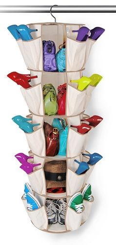Smart Carousel Organizer for Shoes + Bags