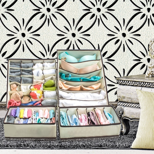 Underwear Closet Organizer Drawer Divider 4 set