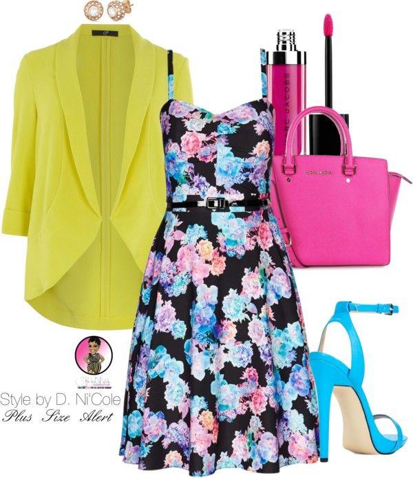 Yellow Blazer + Floral Dress
