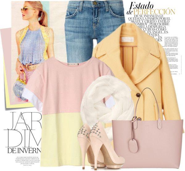 Yellow Coat + Pastels + Jeans