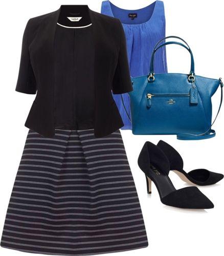 Pinstripe A-line Skirt