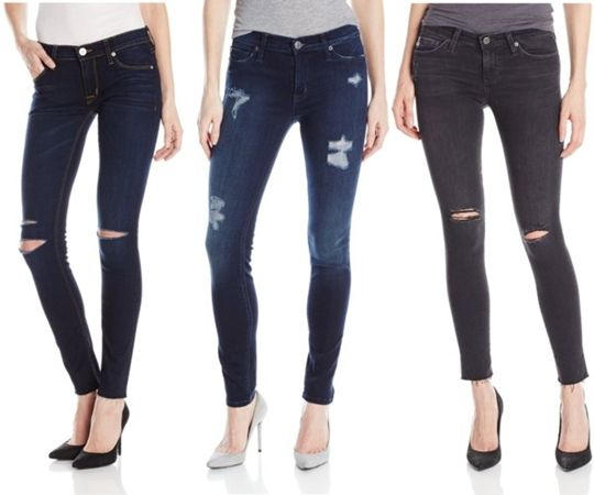 dark distressed jeans trend for fall