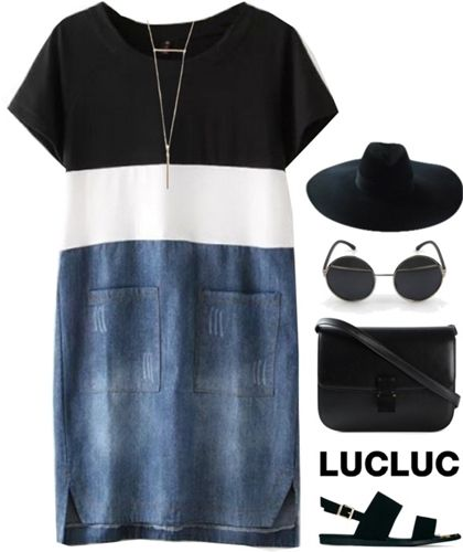 sports luxe t-shirt dress outfit