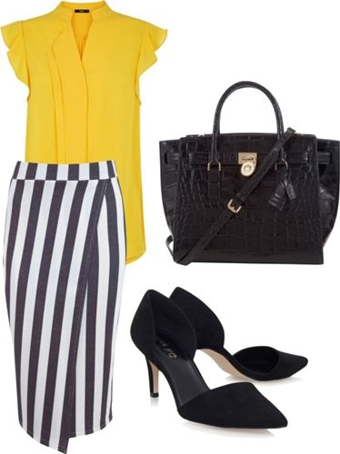 stripe wrap skirt for the office