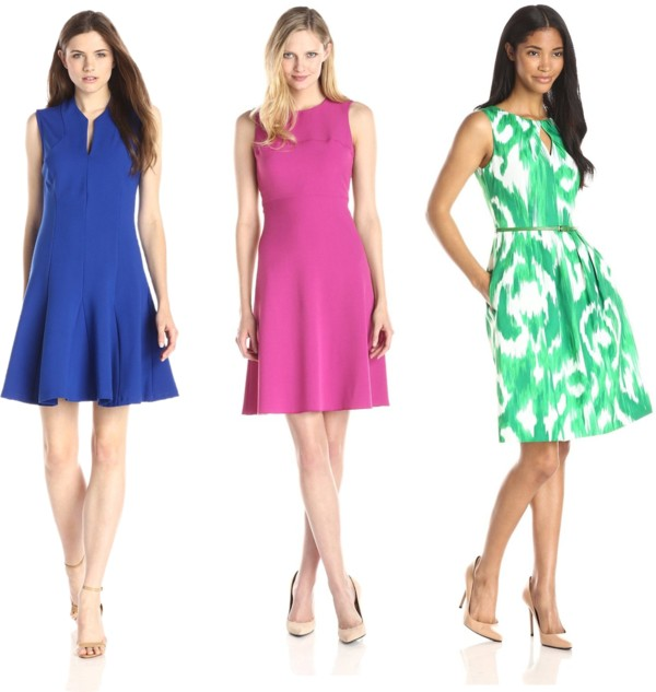 work appropriate fit and flare dresses