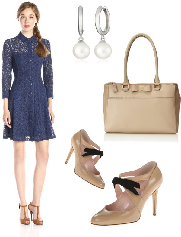 Lace Fever A-Line Shirt Dress