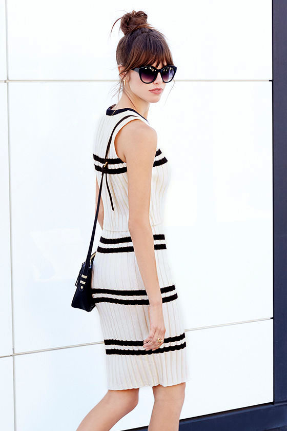 Prep School Black and Cream Two-Piece Dress