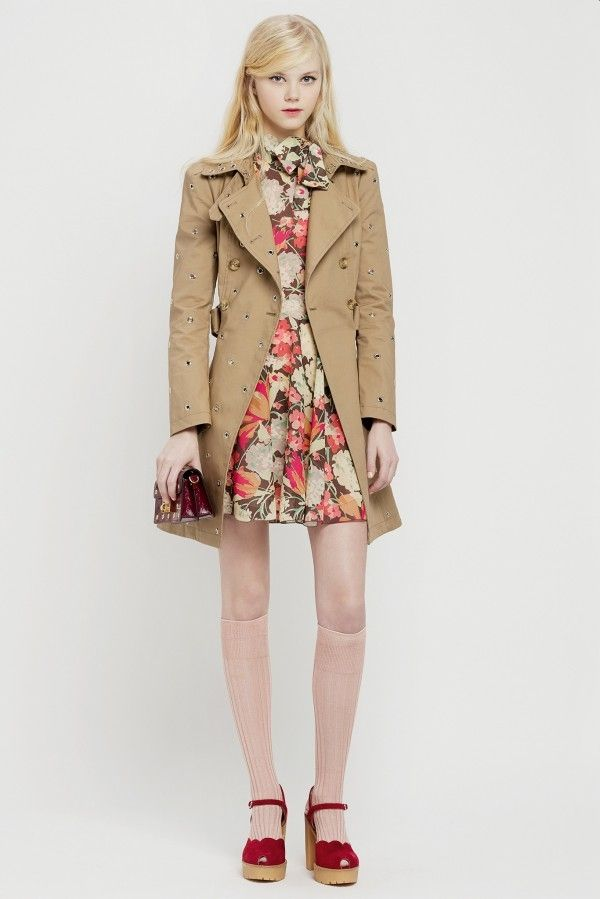 Red-Valentino-Pre-Fall Short Trench Coat