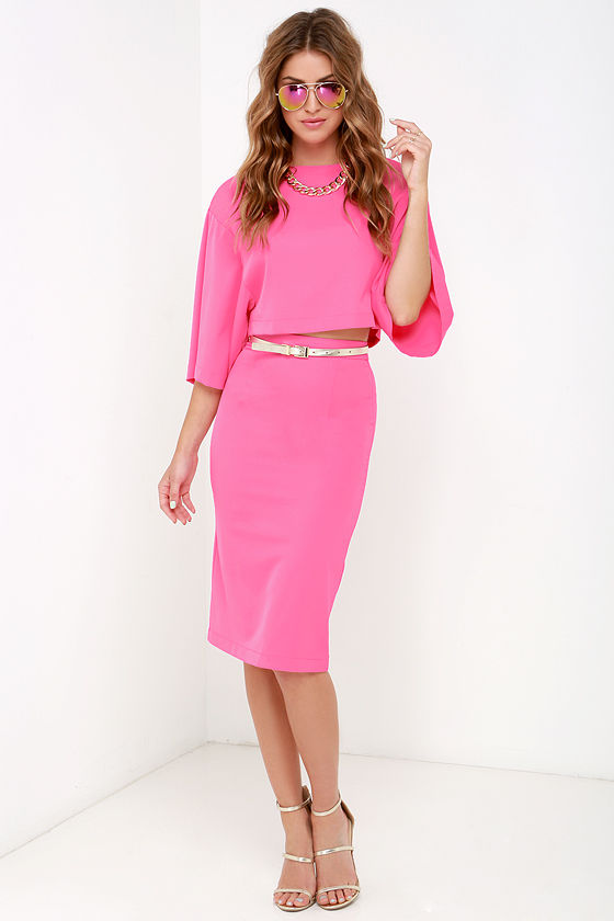 World Wonder Pink Two-Piece Dress