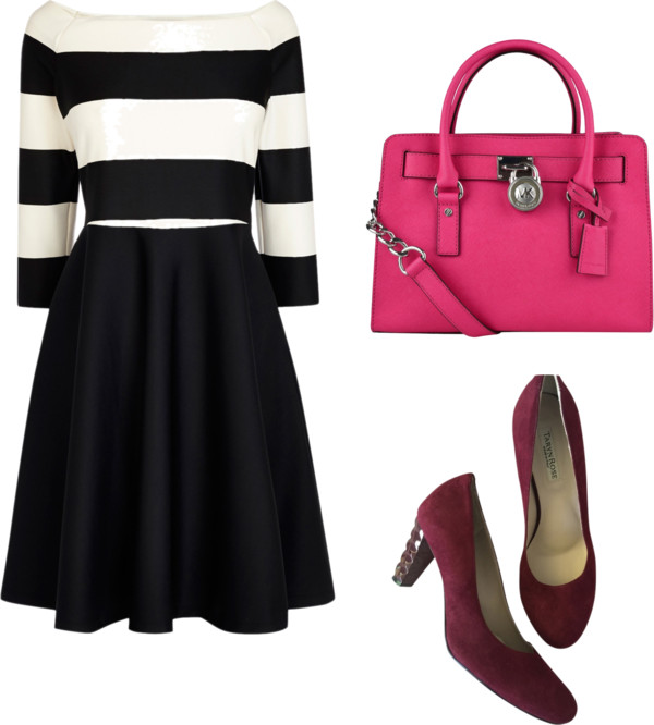 black and white bardot dress outfit