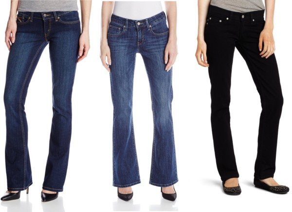 college essential classic straight + boot cut jeans
