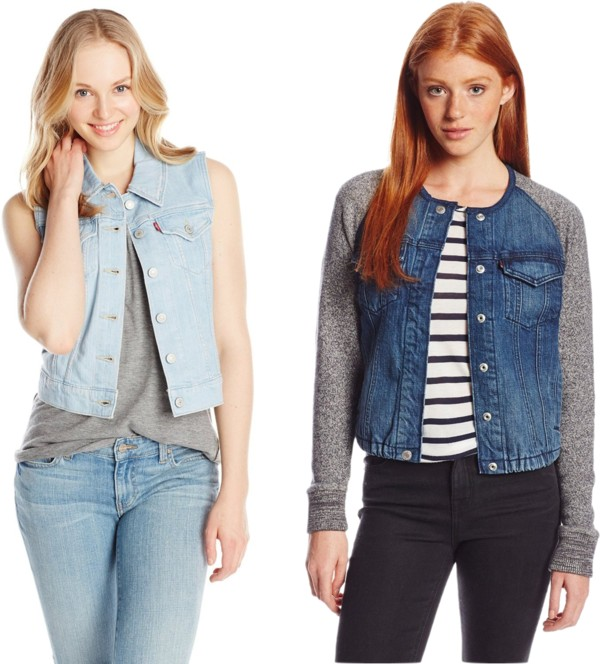 college essentials denim top layers