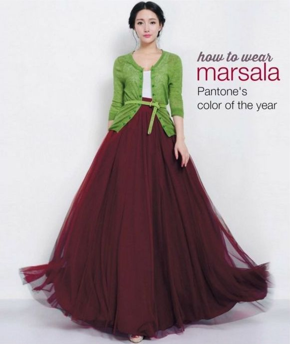 how to wear marsala color
